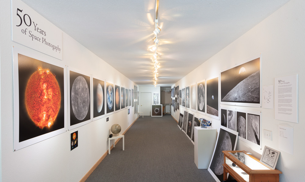 The  50 Years of Space Photography Gallery  with the five extra Apollo 11 prints.