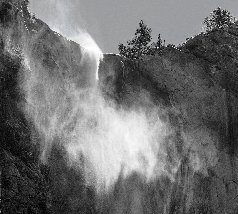 Mist, Bridalveil Falls. Yosemite. 2019. Canon EOS 5DSr.