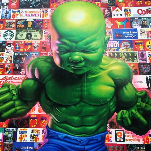 Amazing street art in New York!! #newyork #streetart #nolita #houstonstreet