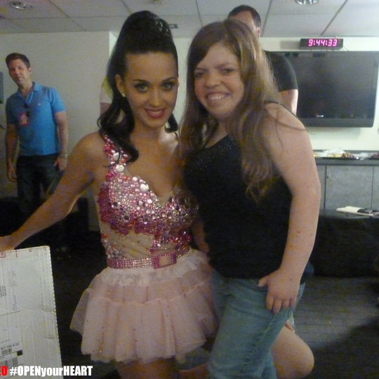 Above: Michelle Liedke with Katy Perry.