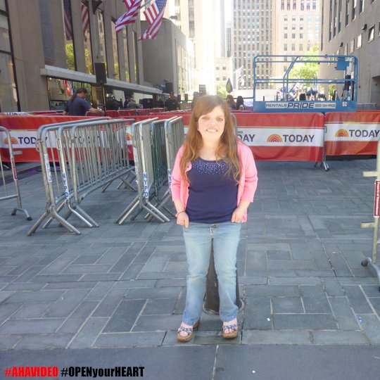 "Above: Michelle Liedke on the Today Show for Katy Perry's ""Teenage Dream"" release."