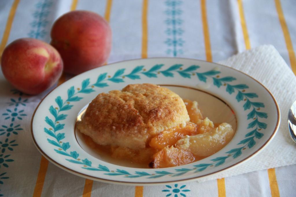Molly's Cornmeal Peach Cobbler