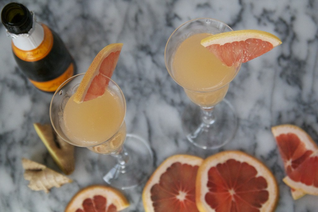 Bonus recipe: Pink Grapefruit Sparklers!