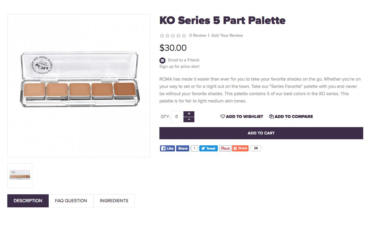 the K.O. palette