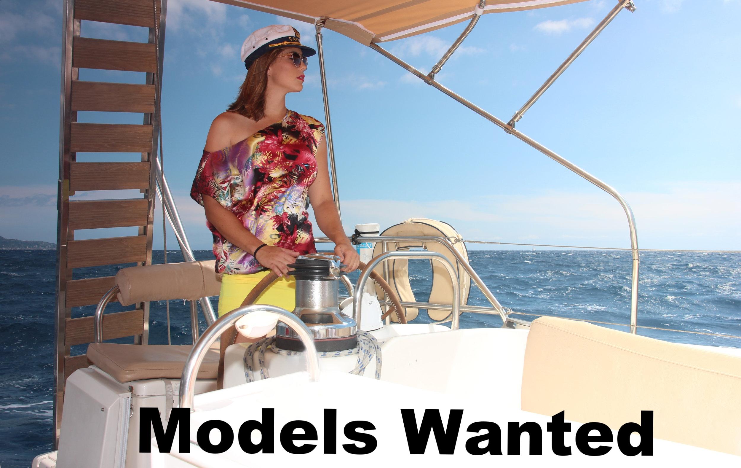 model on yacht
