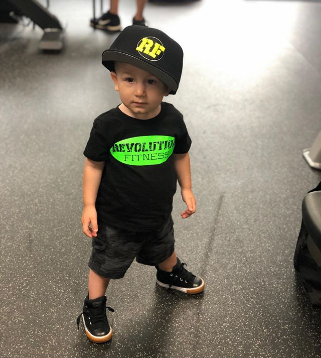 Your never to young to start at revolution fitness. @mspriz1 #cutestlilboy #fitness #model #hesreadytogo #putmeincoach