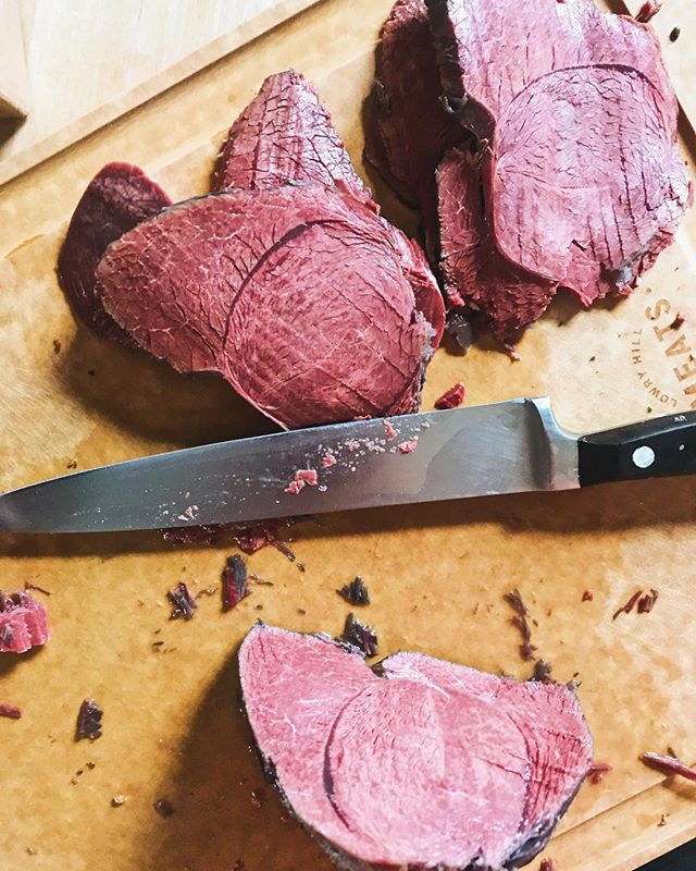 Hey @huntgathercook your corned venison recipe is flawless. As always.