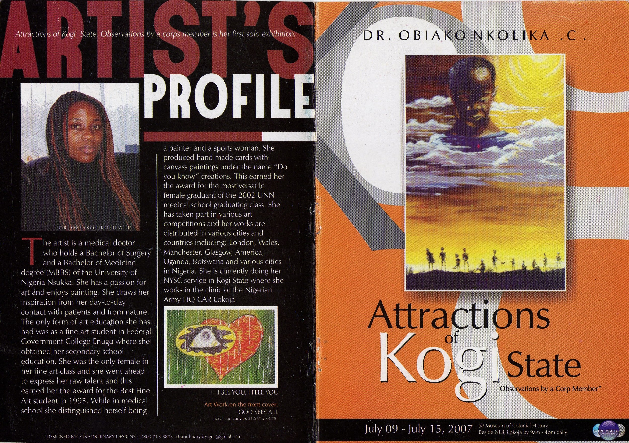 Art Exhibition Brochure with Artists Profile