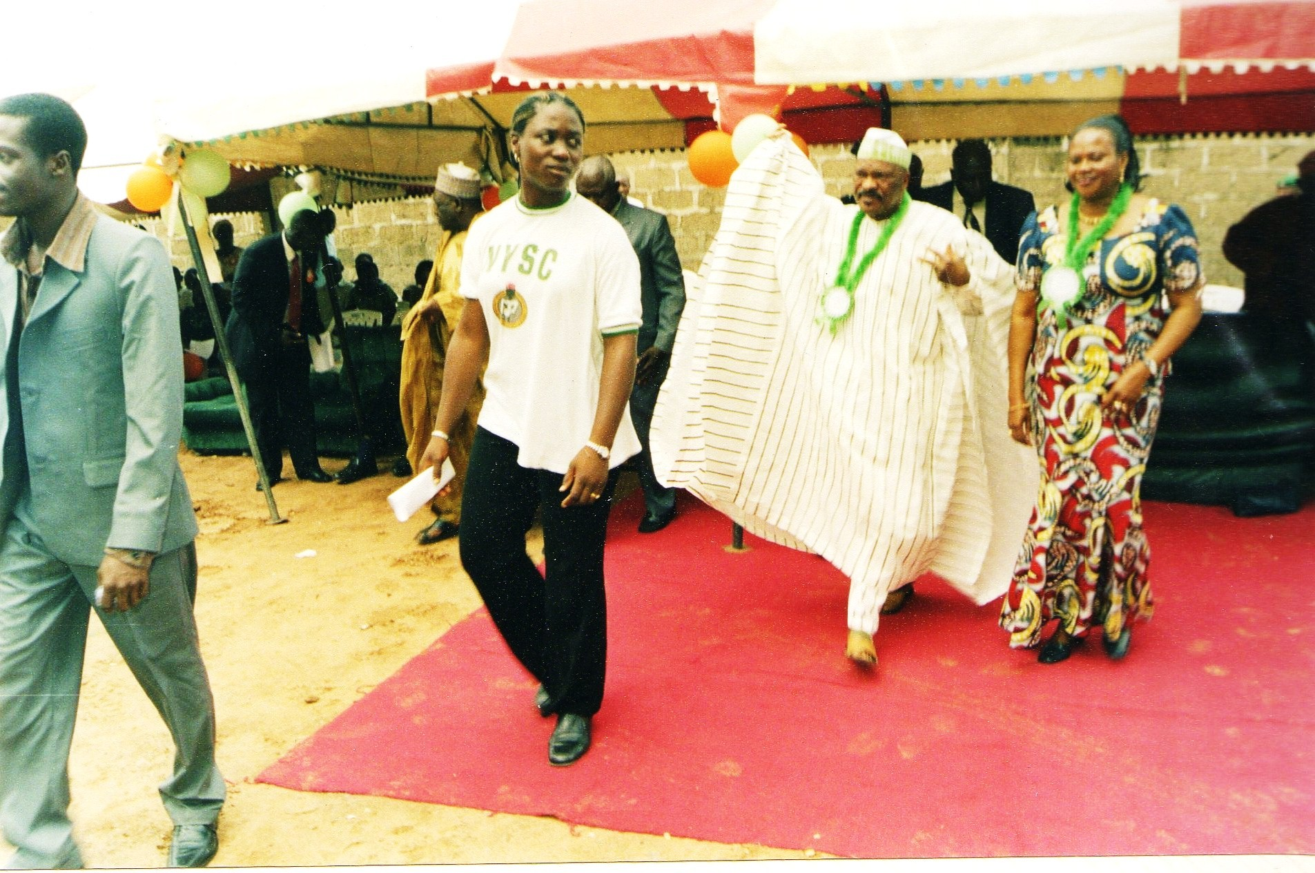 Leading The Special Guests Of Honour To the Hall