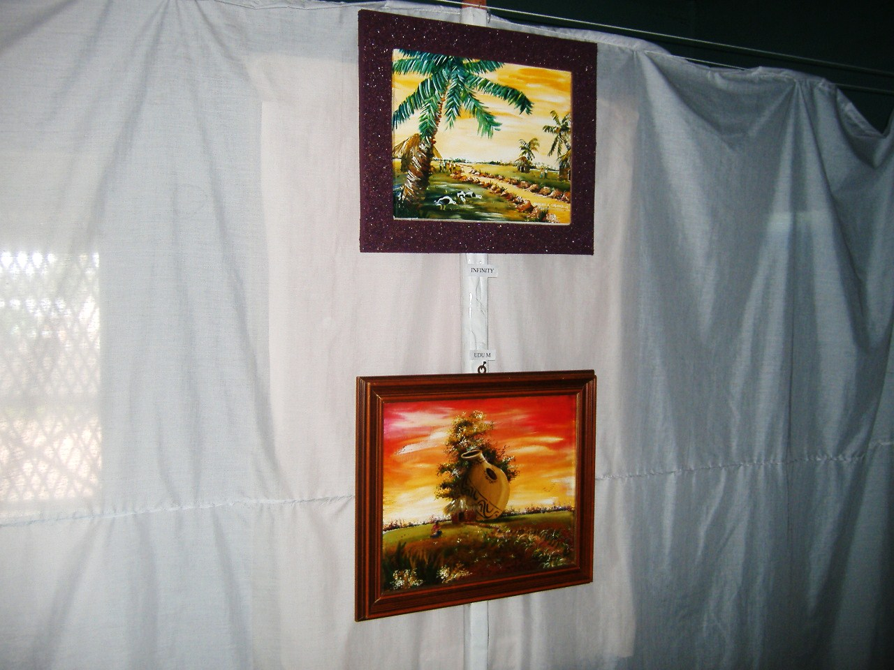 Paintings Of Local Scenes On Display