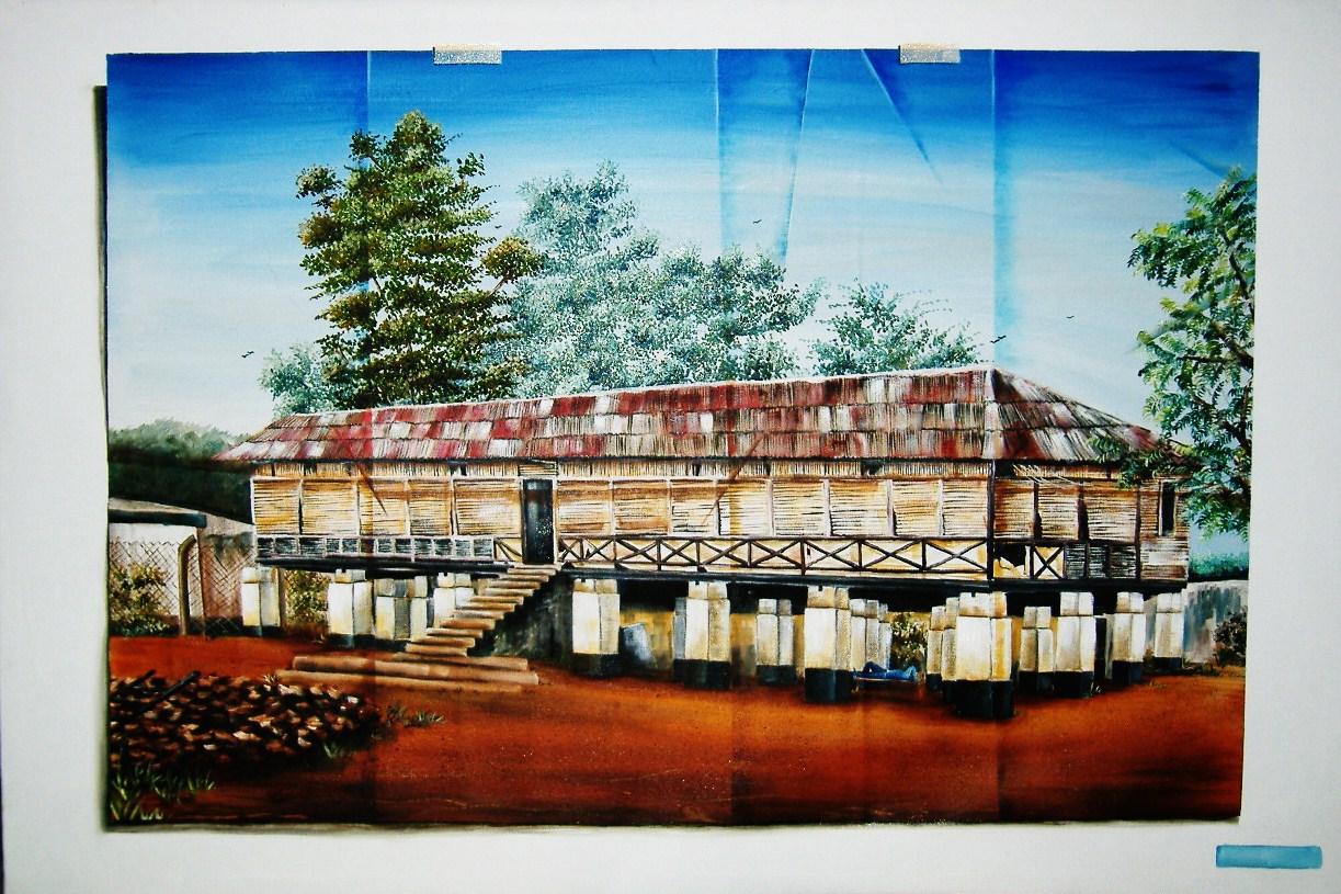 Lord Lugard Quaters Lokoja, Oil on Canvas