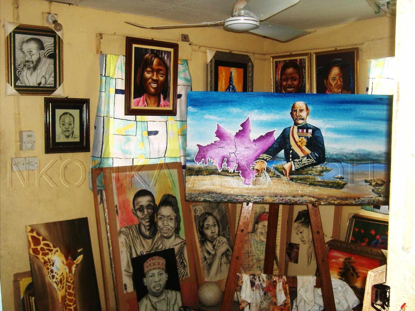 My lounge turned art studio in 2006