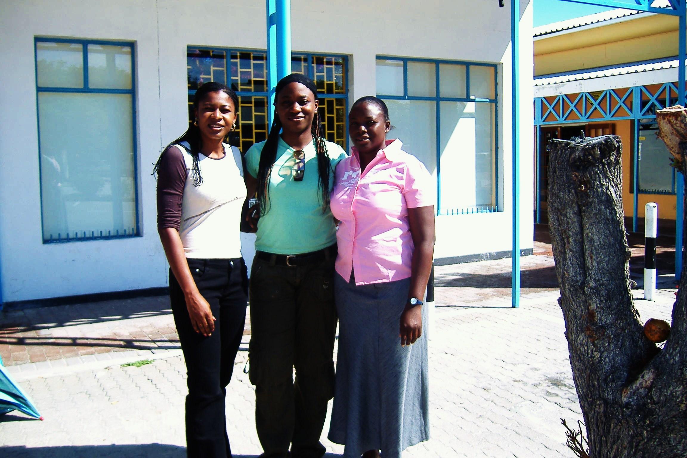 NKOLIKA WITH REMI AND NIKKI IN MAUN, BOTSWANA