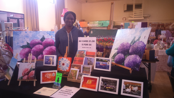 Art and Greeting Cards at a Craft Fair