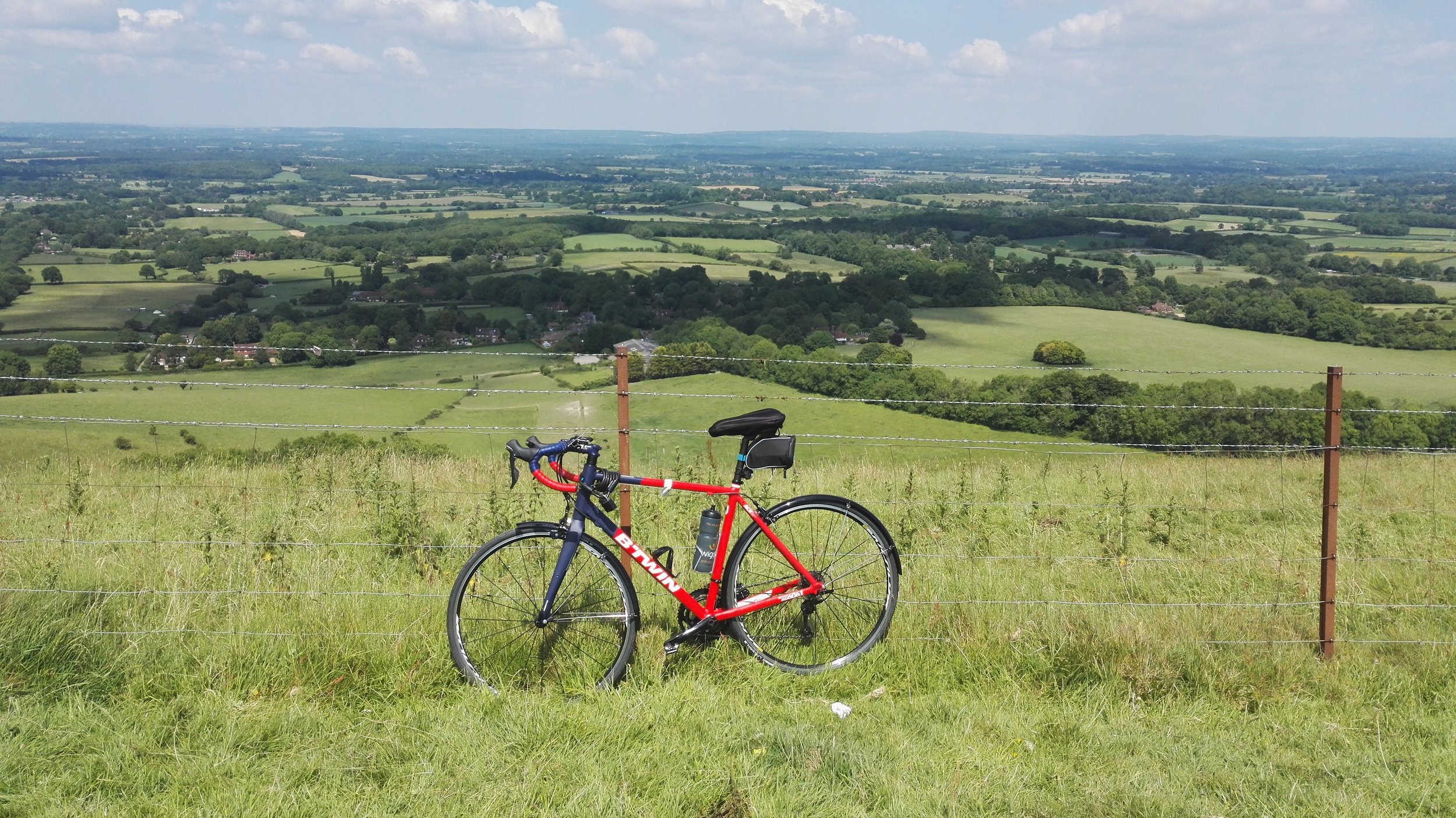 A view of Sussex from the top of Ditchling Beacon