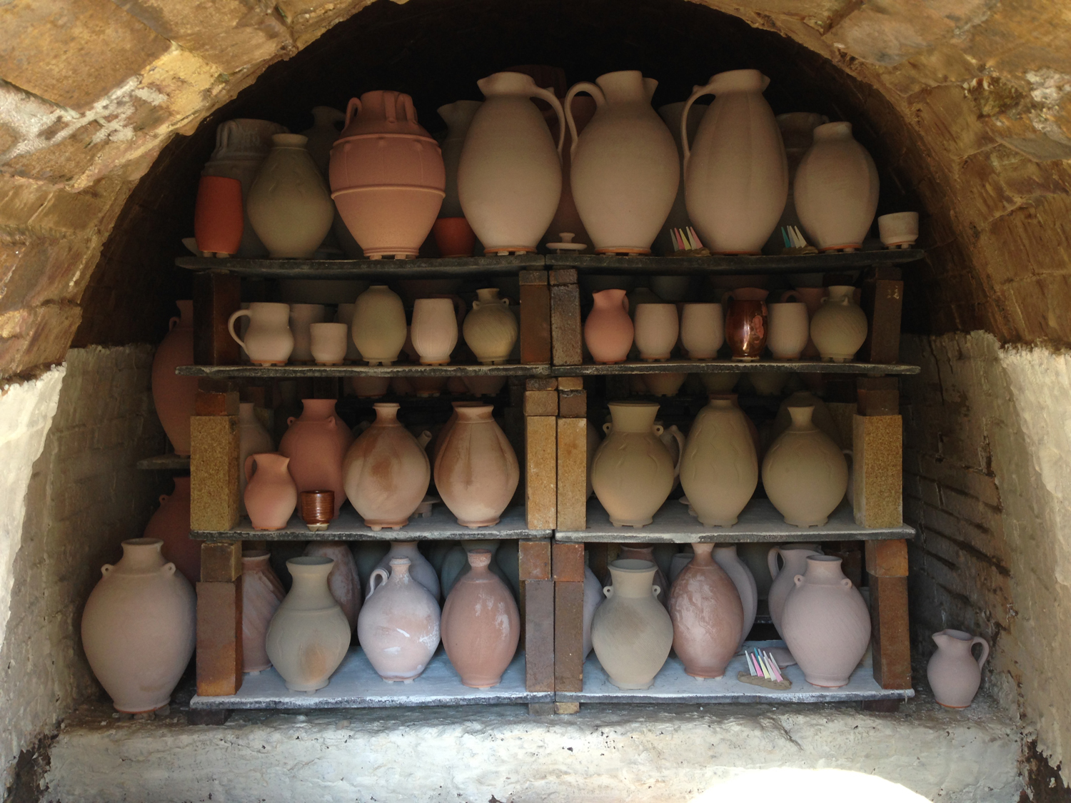 Loaded Wood Kiln First Chamber.jpg