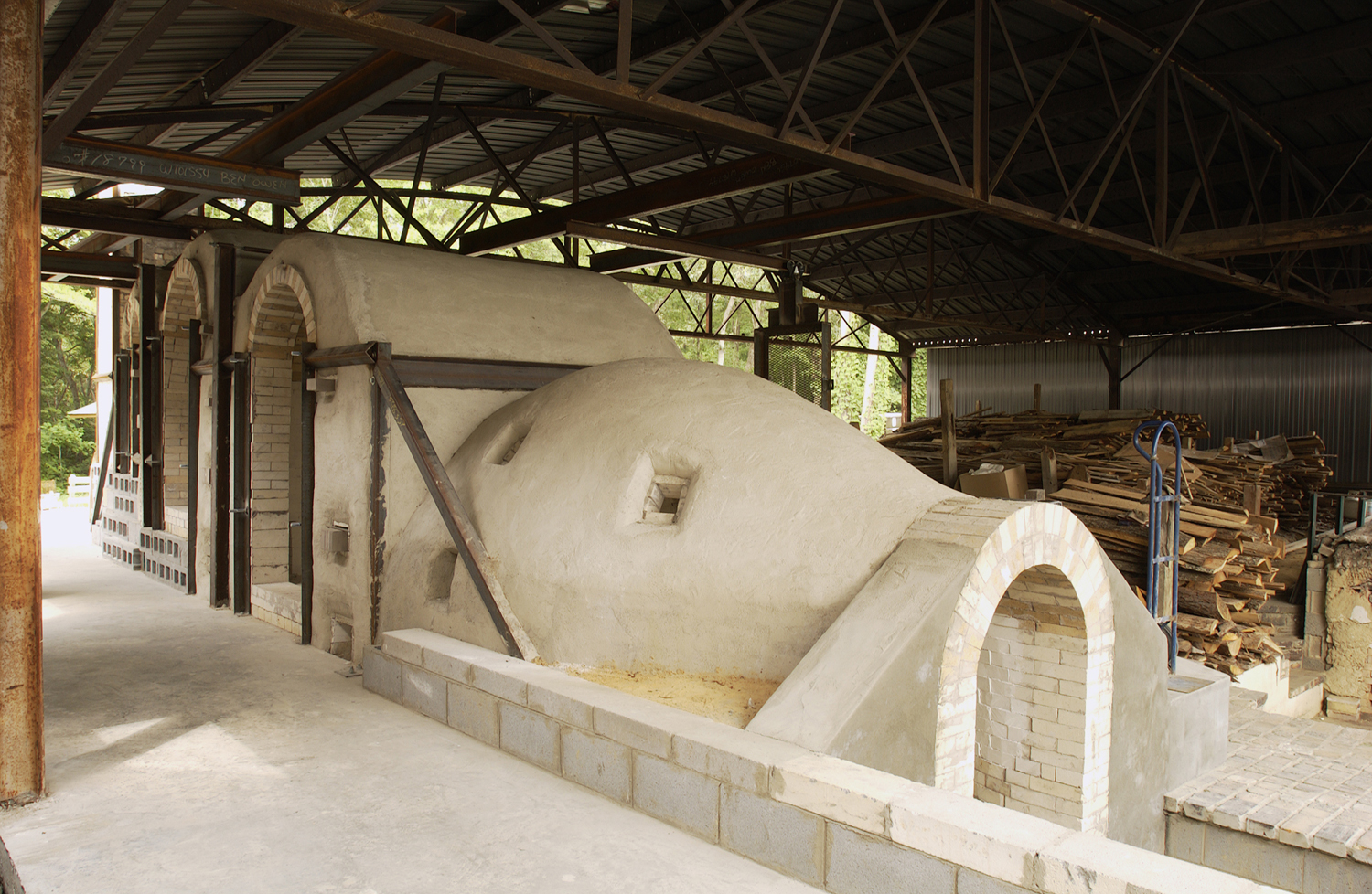 Papagama wood kiln at Ben Owen Pottery.jpg