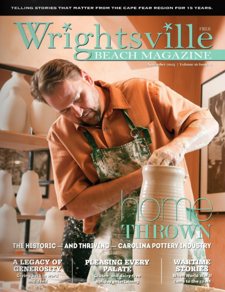 Click on the cover image to access a virtual article from the November 2015 issue of  Wrightsville Beach  magazine about Seagrove pottery.