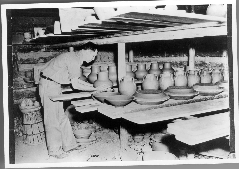 Ben Owen Sr. at work in Studio at Jugtown, 1930s.jpg