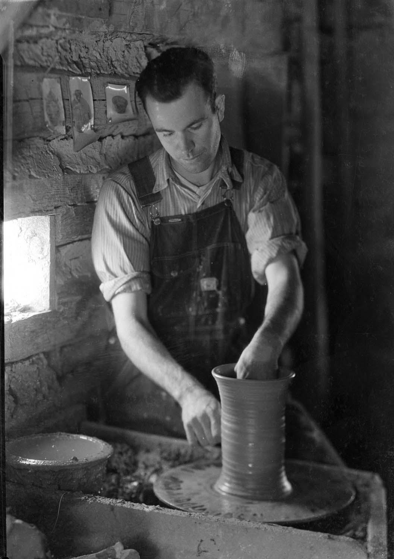Ben Owen Sr. Throwing Pots at Jugtown 1920s.jpg