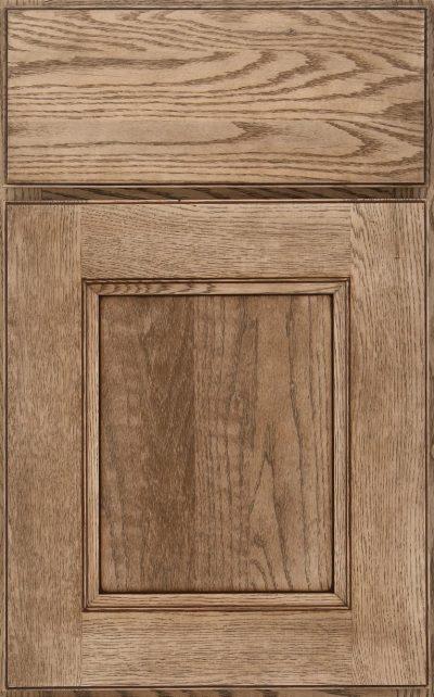 Ellison Flat Panel Oak Cappuccino Burnt Sienna Highlight