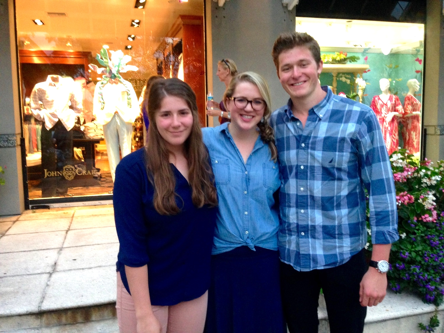 Sibs. No, we didn't plan the all blue thing. All 3 of us were together for 12 hours. It was awesome.