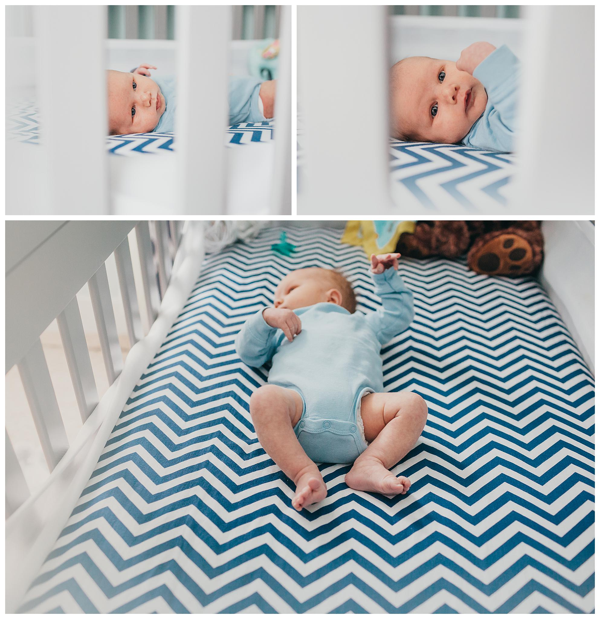 Newborn photography in Holland michigan lifestyle family photos in babies nursery