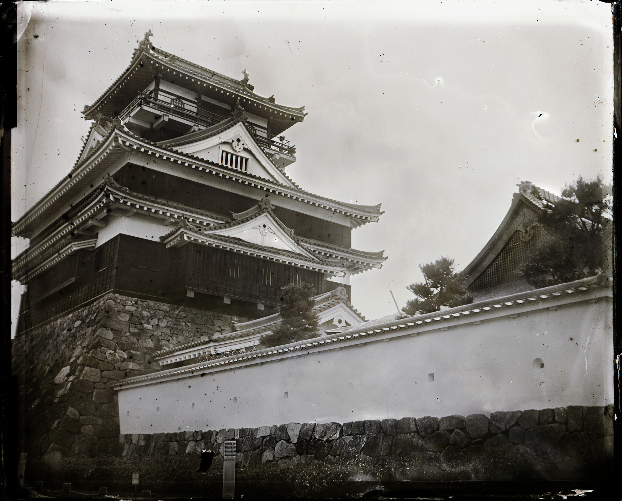 湿板写真 清洲城  Wet Plate Collodion Process Ambrotype
