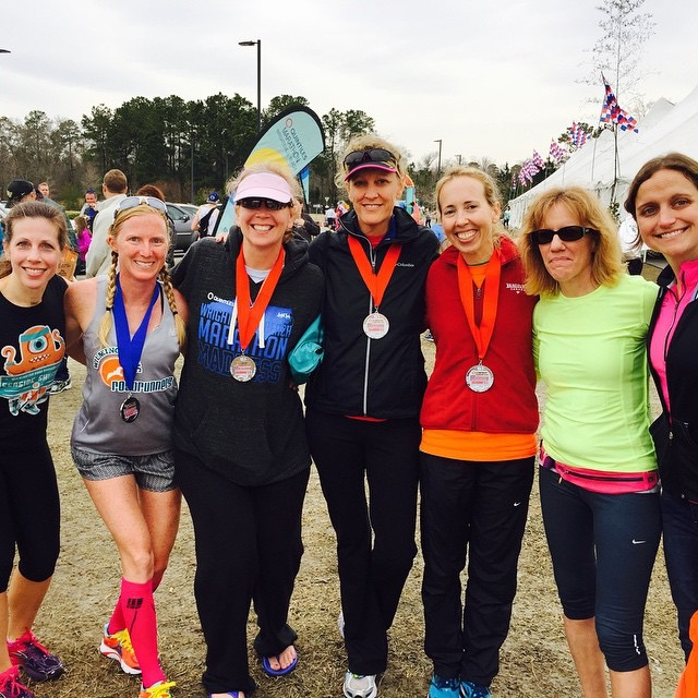 My girls...many of whom PR'ed that day also! And my pacer, Leslie is on the end next to me.