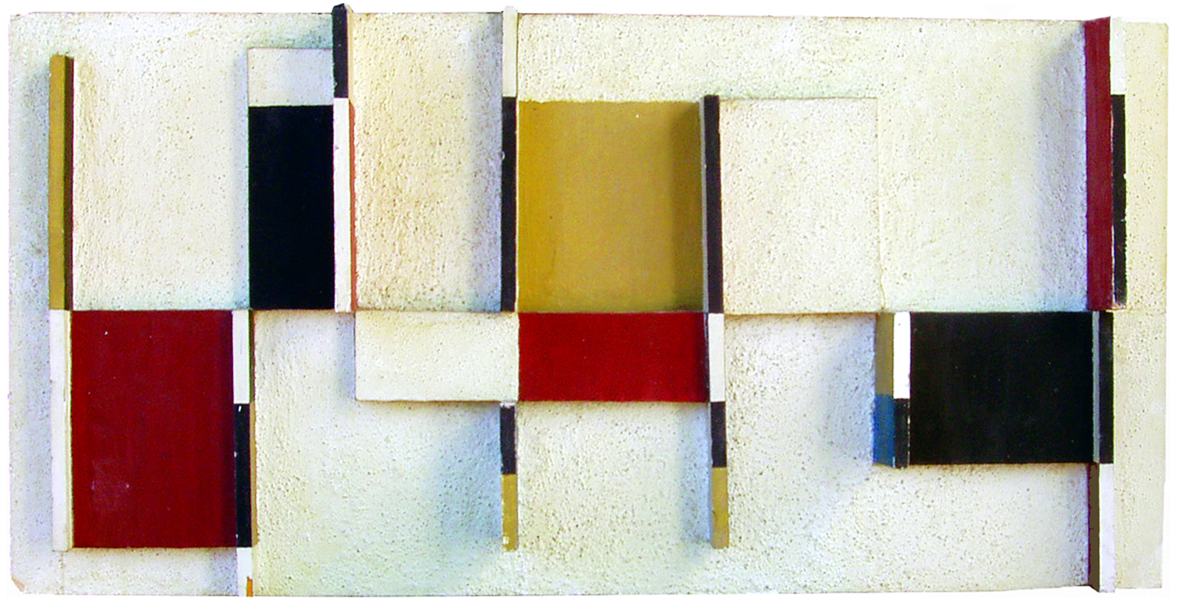UNTITLED COMPOSITION  16(h) x 34(w) x 3(d) in