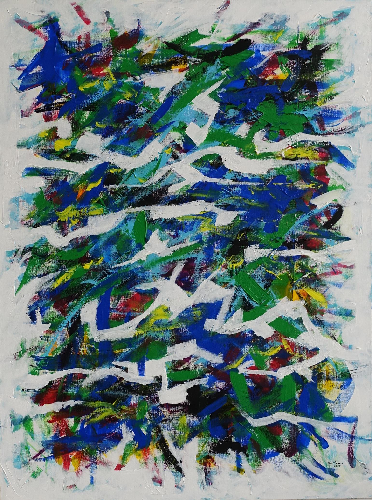 BLUE GREEN  40(h) x 30(w) in