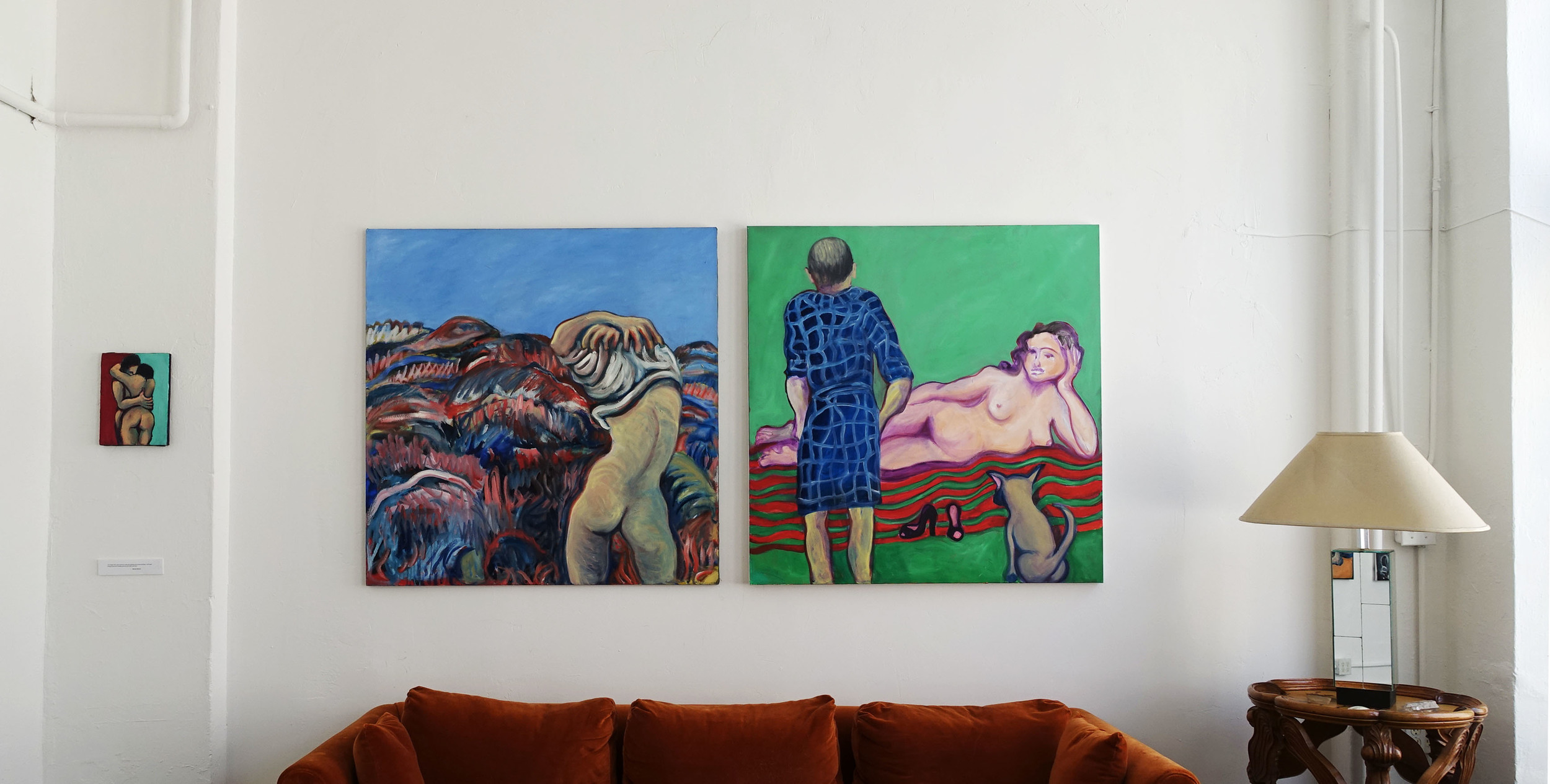 (center) (left) UNTITLED 48 x 48in Oil on canvas  (right) UNTITLED 48 x 48in Oil on canvas