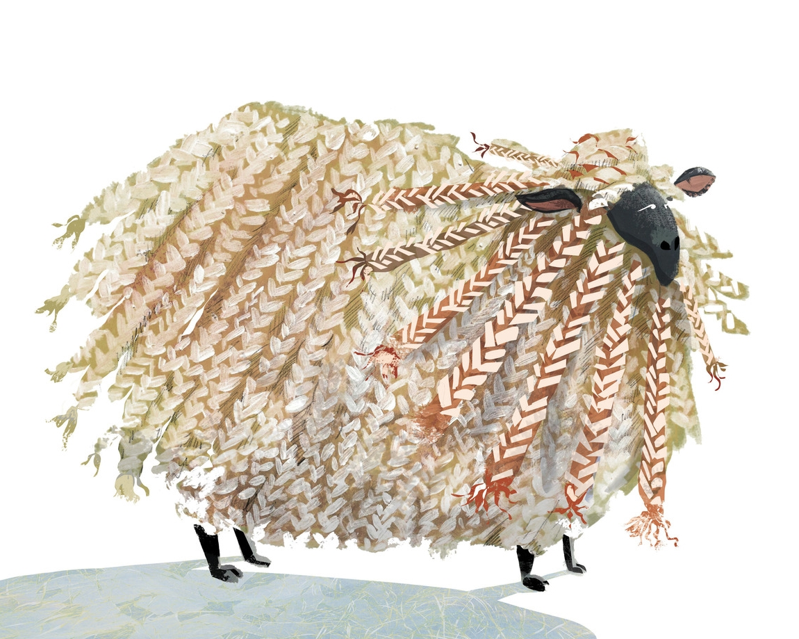 Braided Sheep, Priscilla Tey Art, Priscilla Tey