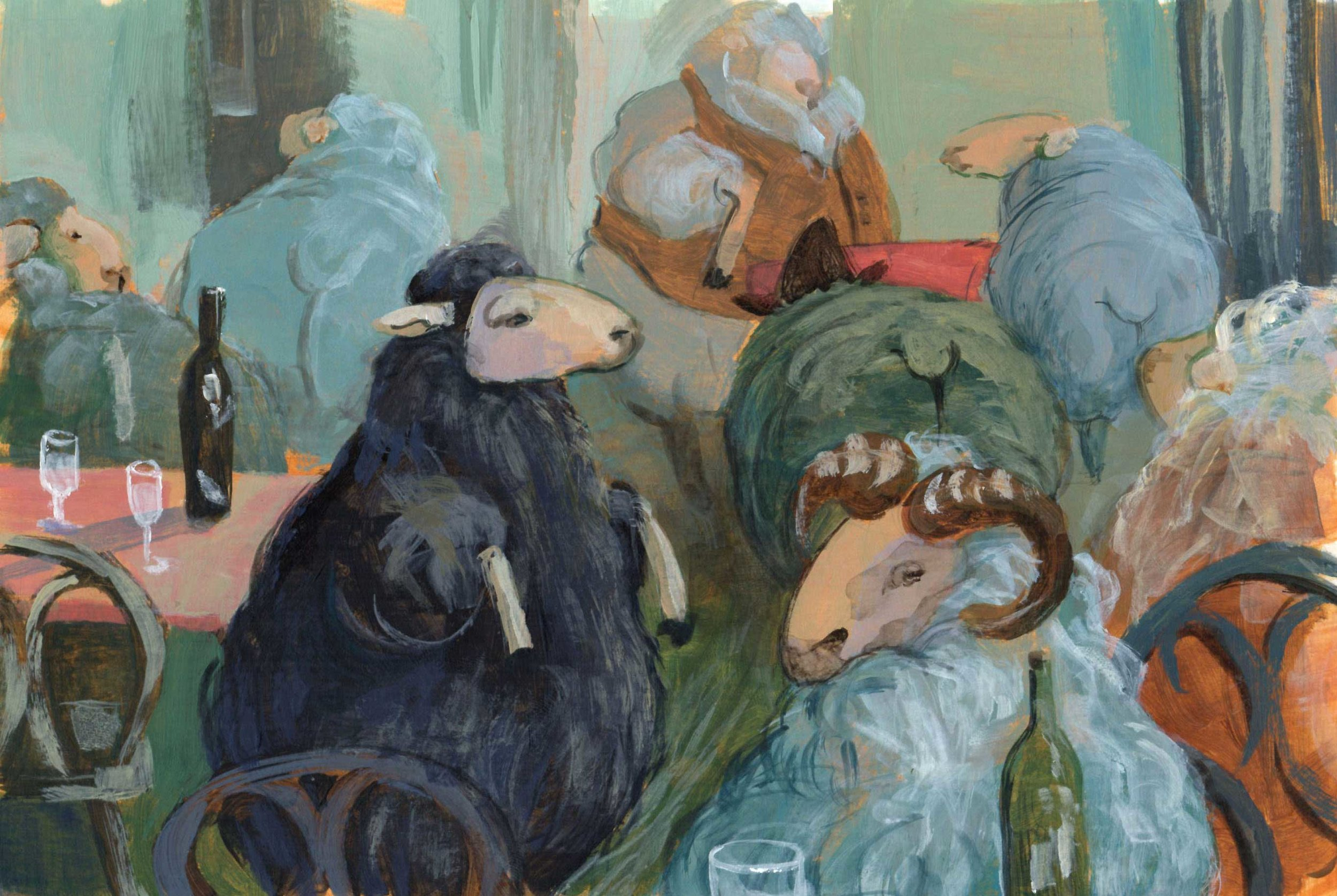 Sheep Bar, Priscilla Tey, Illustration Art