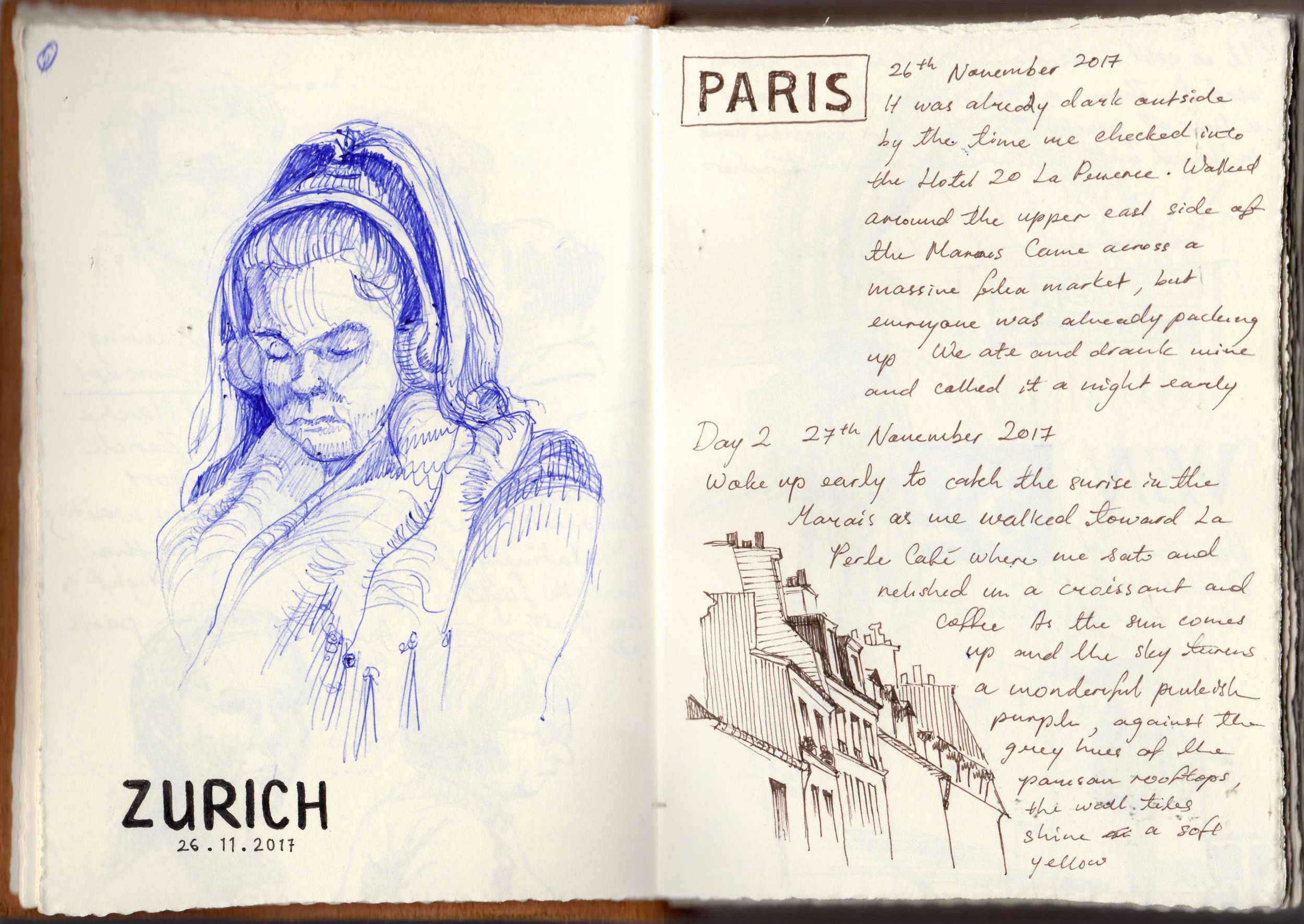 Paris Sketchbook, Priscilla Tey, Illustration Art