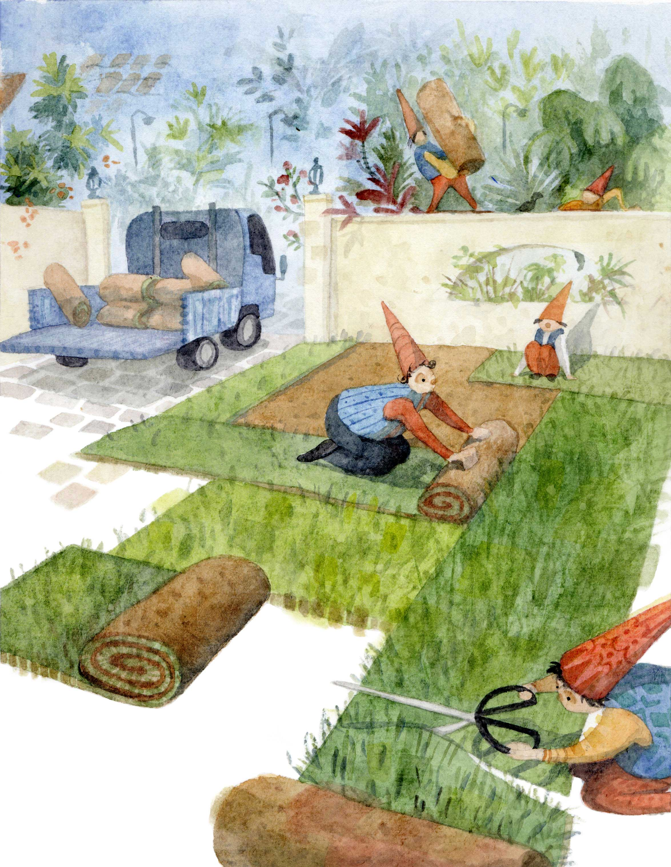 Gnomes Rolling Lawn
