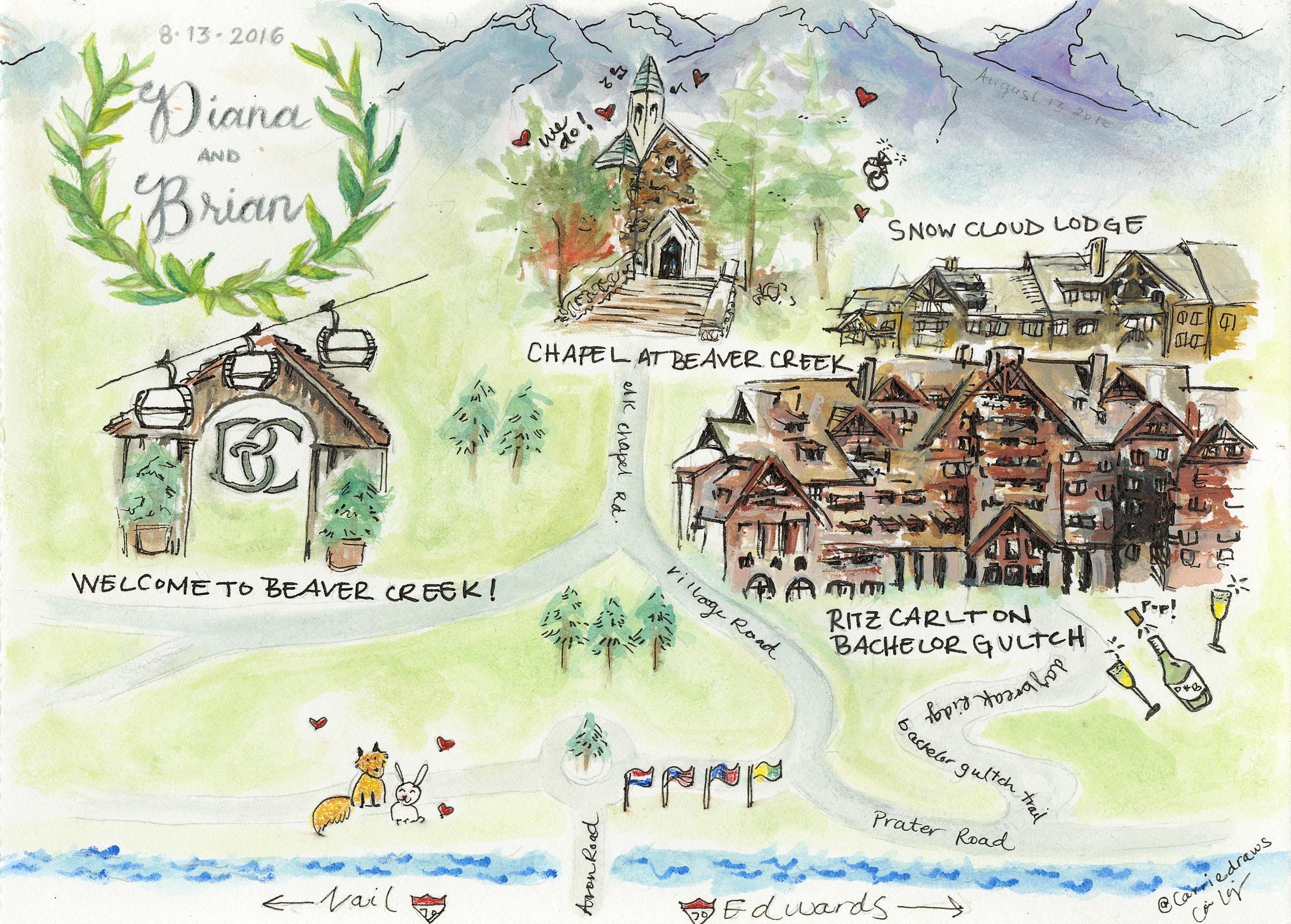 Wedding Map- Beaver Creek