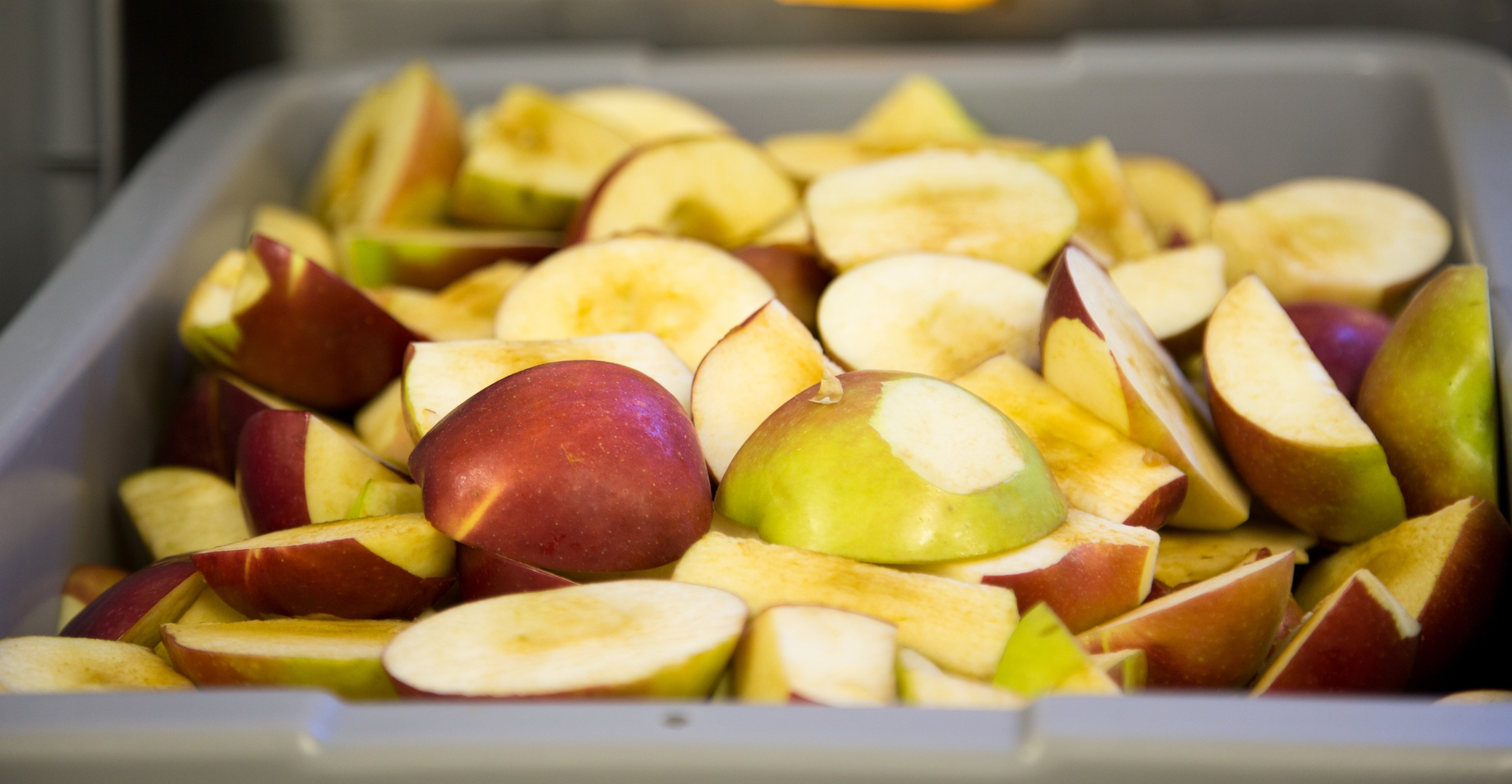Apples for sauce or grinding for leather - no waste.