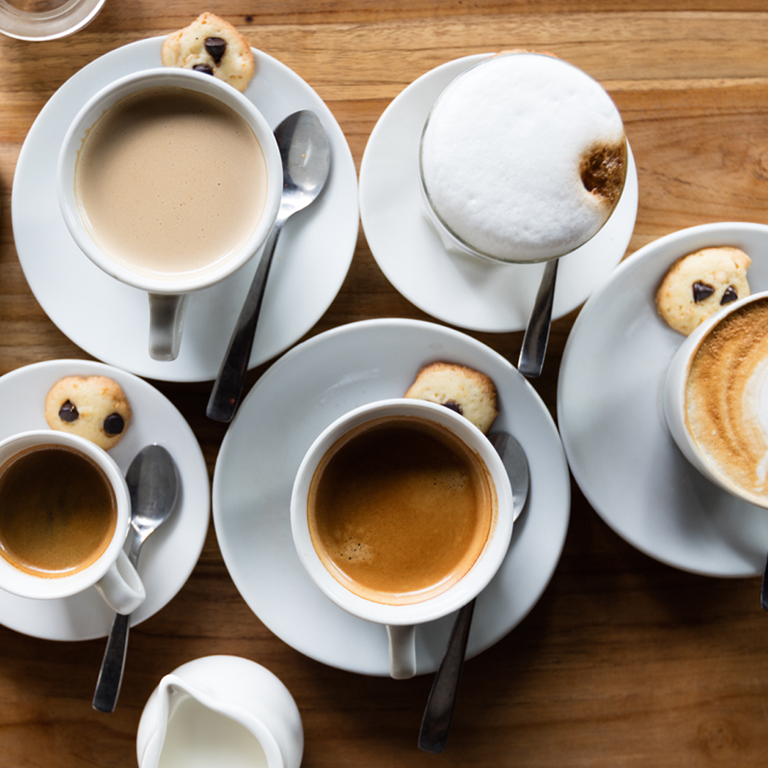 Types of Drinks at Coffee Shops -