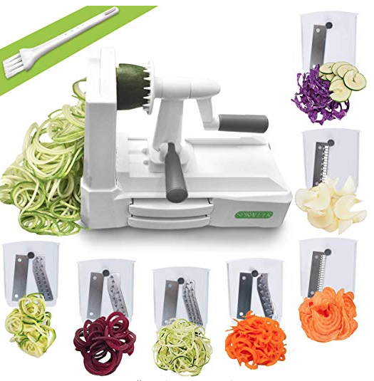 Spiralizer - When you're trying to eat more veggies, a spiralizer makes things fun. I spiralize zucchini, cucumber, potatoes, and lots more!