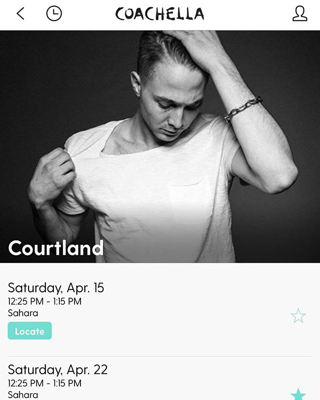 @coachella weekend 2 goers, go follow me on the official Coachella App and get notified before I perform!  Excited to see you all there!!!!