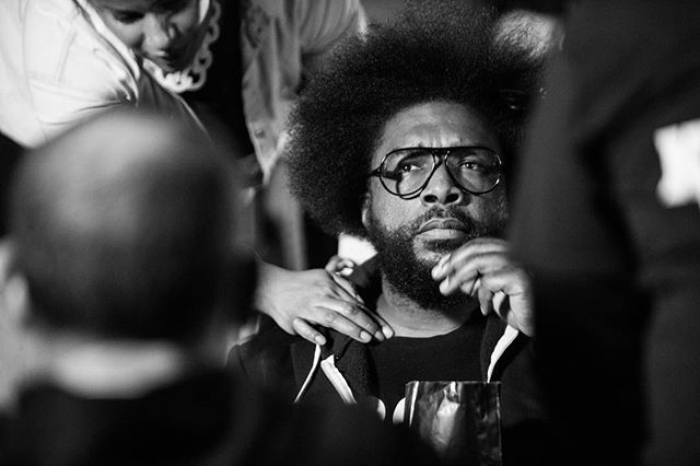 Behind the scenes with @questlove for @ipictheaters  #karstenstaigerphotography