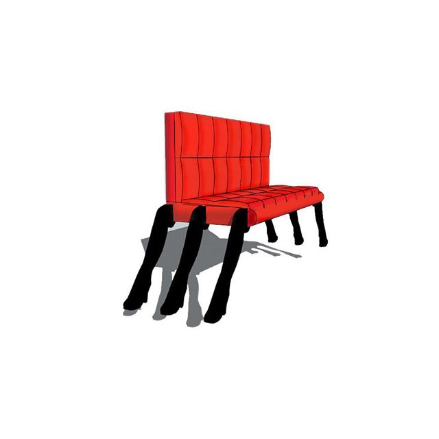 6 legged sofa. Tim walker design #Timwalkerdesign #design #furniture #product #legs #sketchup3d #prototype #conceptart #