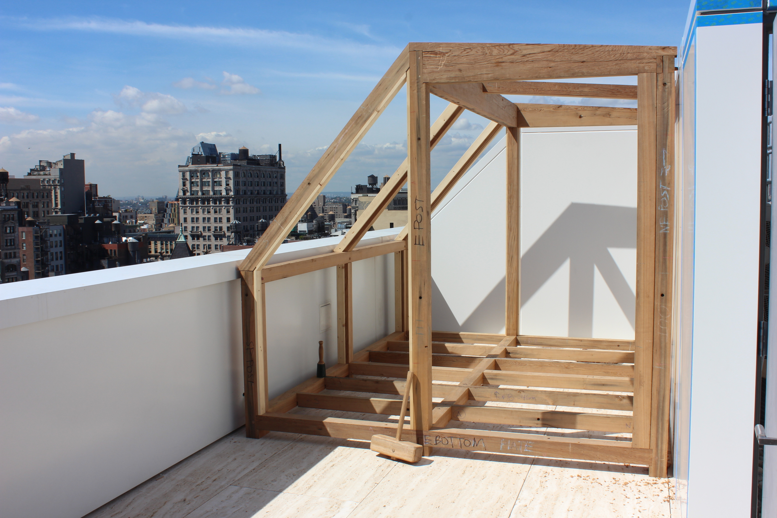 Rooftop timber framed cabin for SØREN ROSE STUDIO  NYC