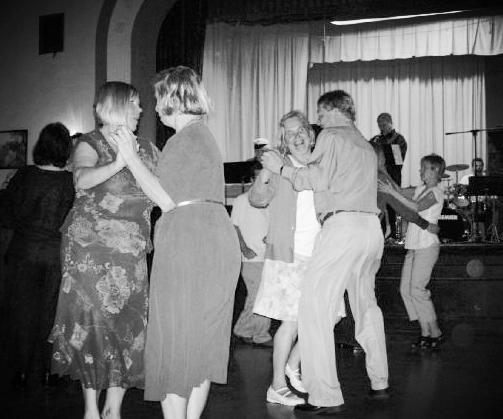 Lodge members at the annual Vappu dance.