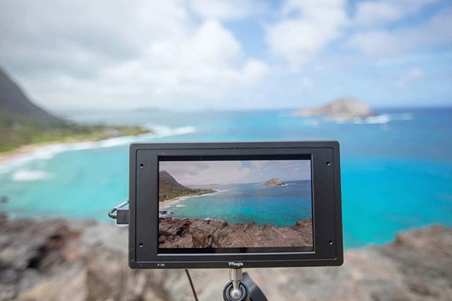 Loving our new TV Logic F-7H on camera monitor!  Since it's the brightest field monitor in world (3,600nits!), you don't even need a sunshade! 🌞