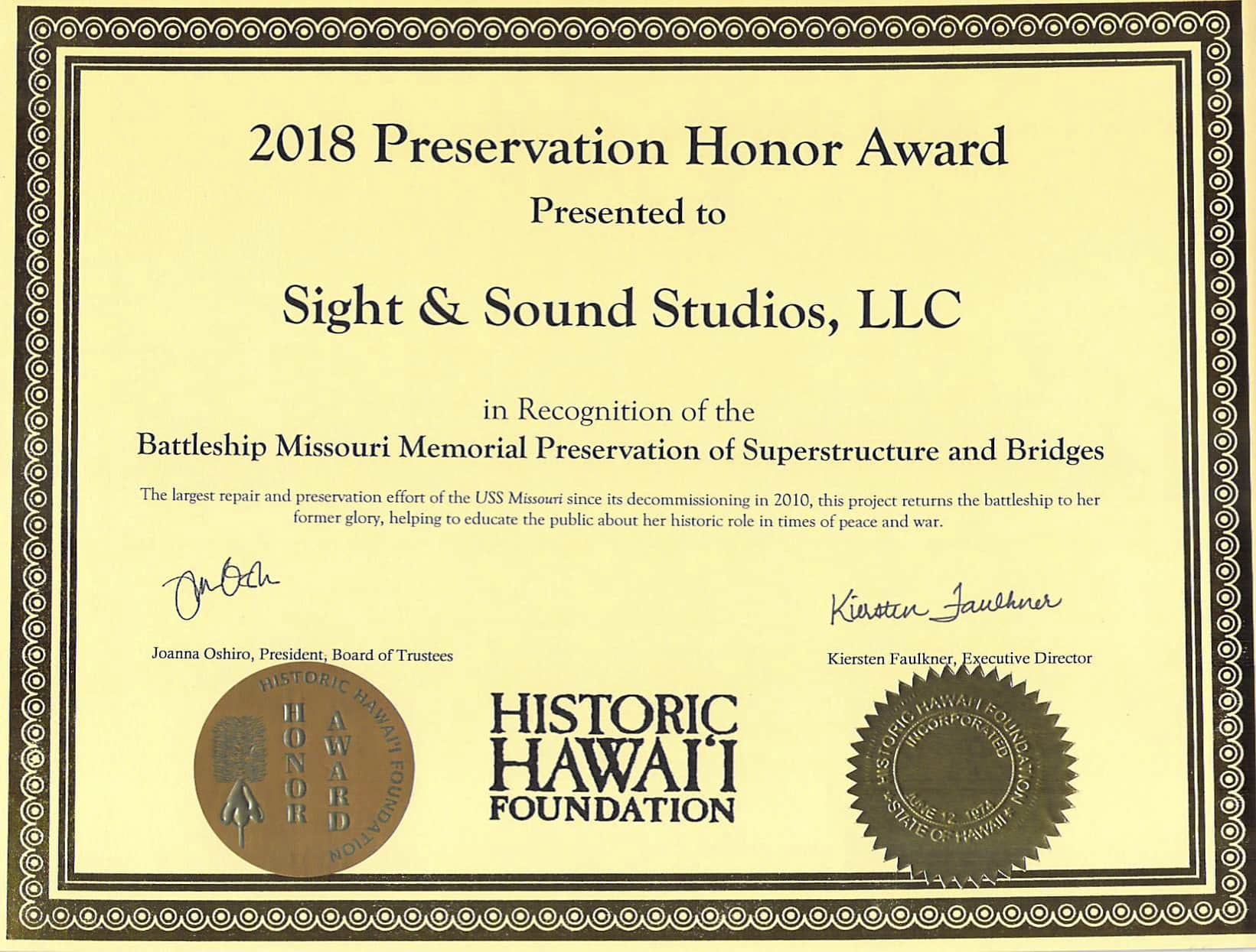 2018 Preservation Honor Award Battleship Missouri.jpg.jpg