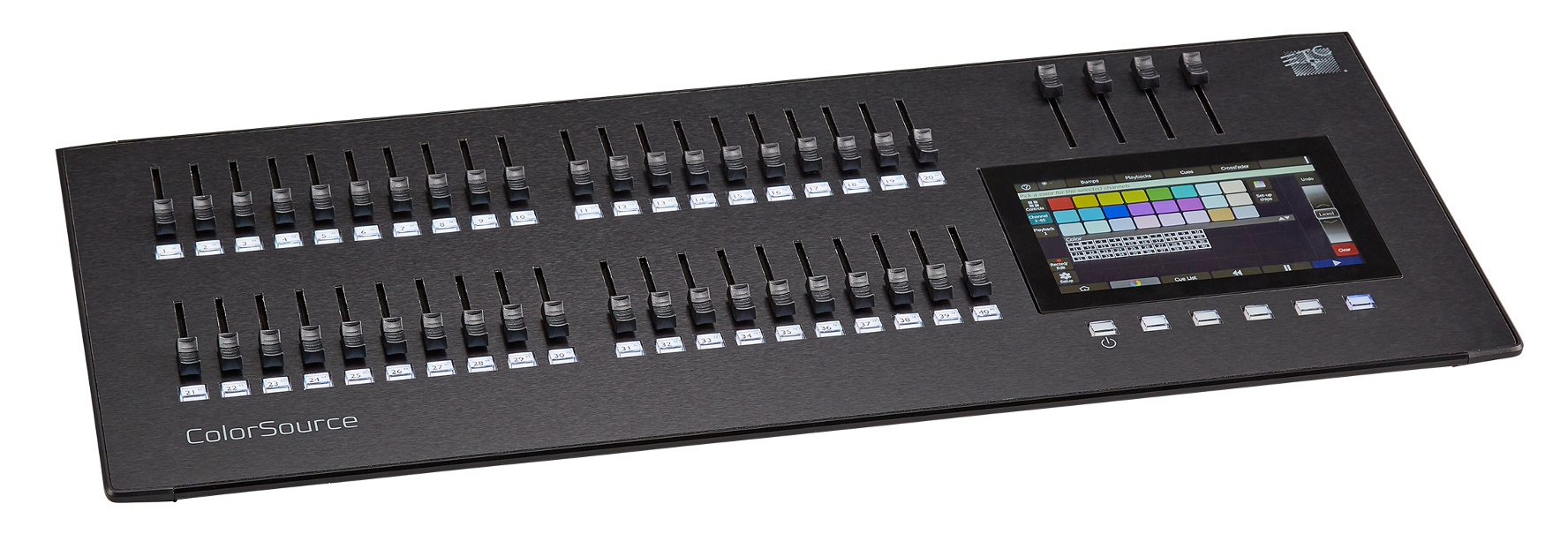 ETC ColorSource 40 Board - DMX Control Console For 80 Fixtures With 40 Faders, Multi-Touch Display