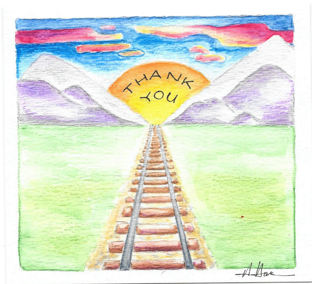 thank you railroad tracks