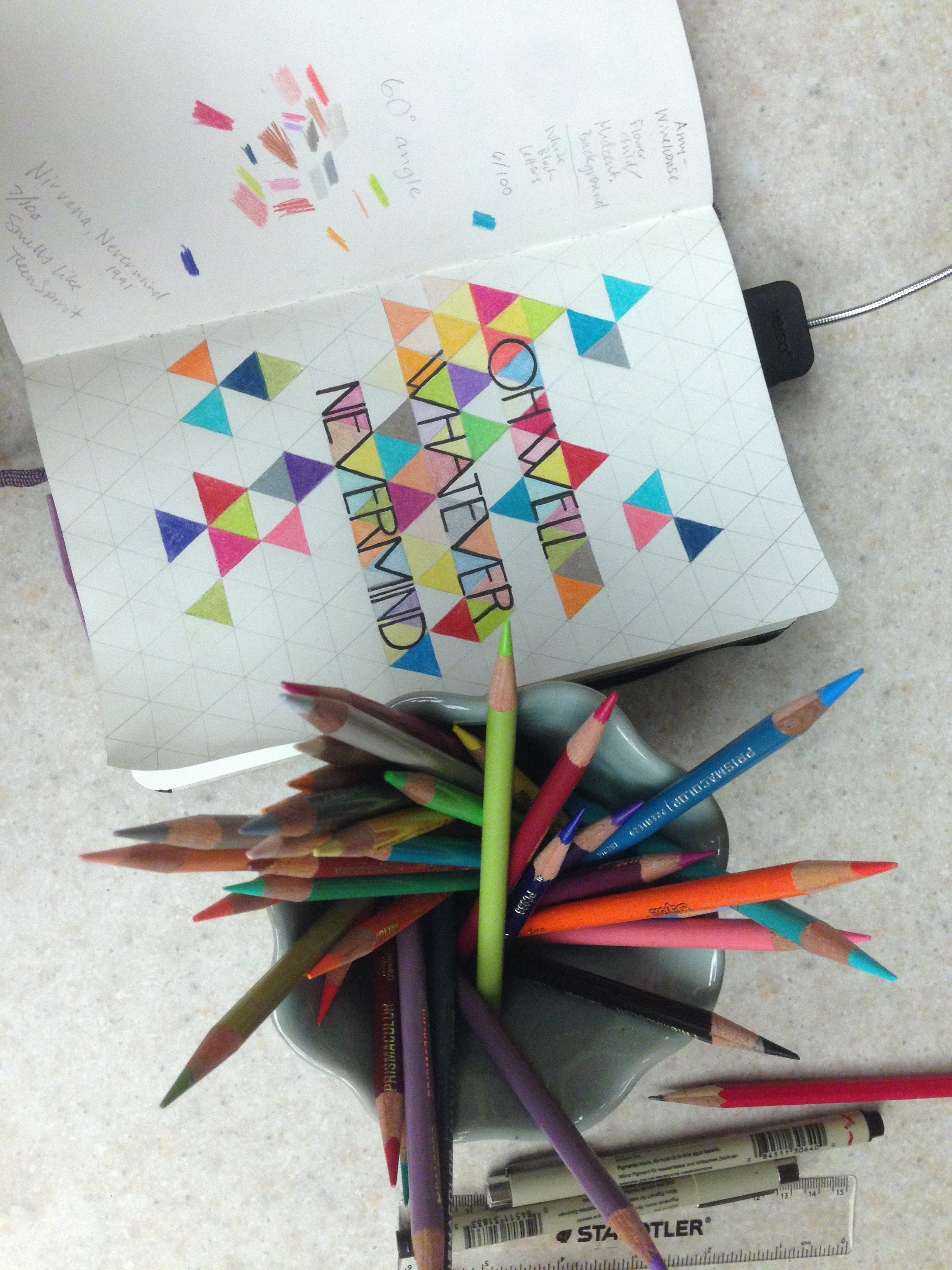 And then the challenge is coloring in all of those little triangles...